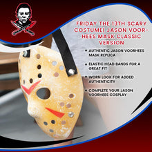 Load image into Gallery viewer, Friday the 13th Scary Costume| Jason Voorhees Mask Classic Version