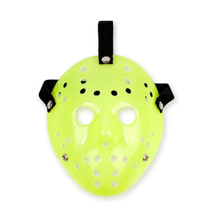 Jason Hockey Mask | Glow-In-The-Dark Friday The 13th Mask | Sized for Adults