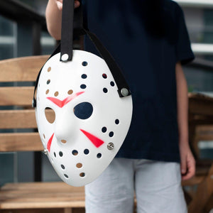 Jason Hockey Mask | White Friday The 13th Mask | Sized for Adults & Teens