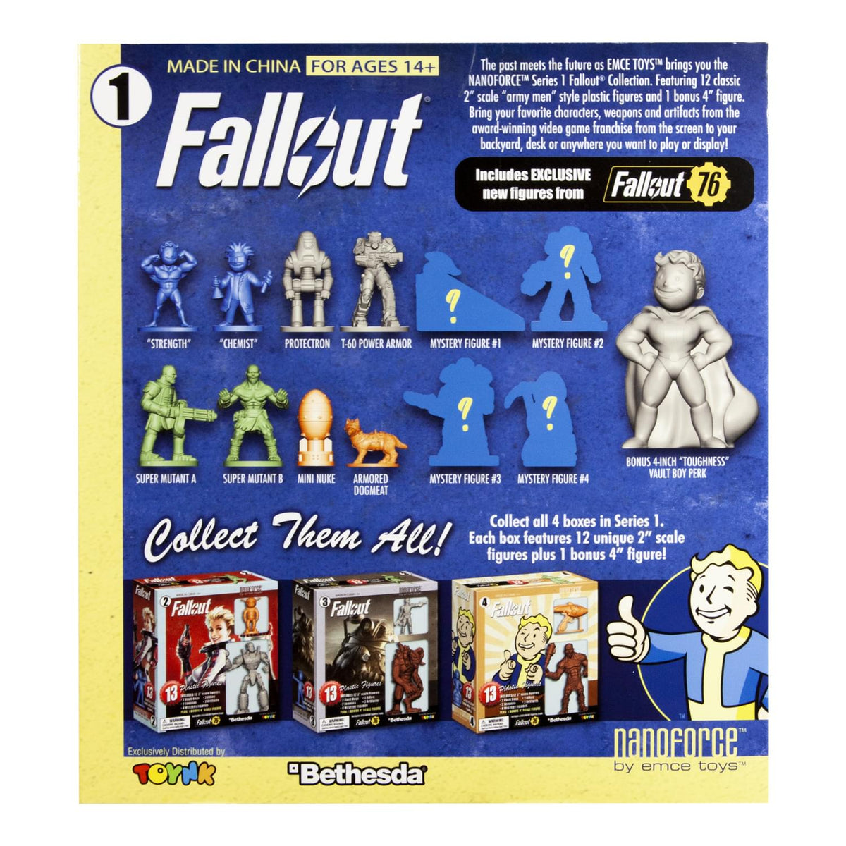 Fallout Nanoforce Series 1 Army Builder Figure Collection - Boxed Volume 1
