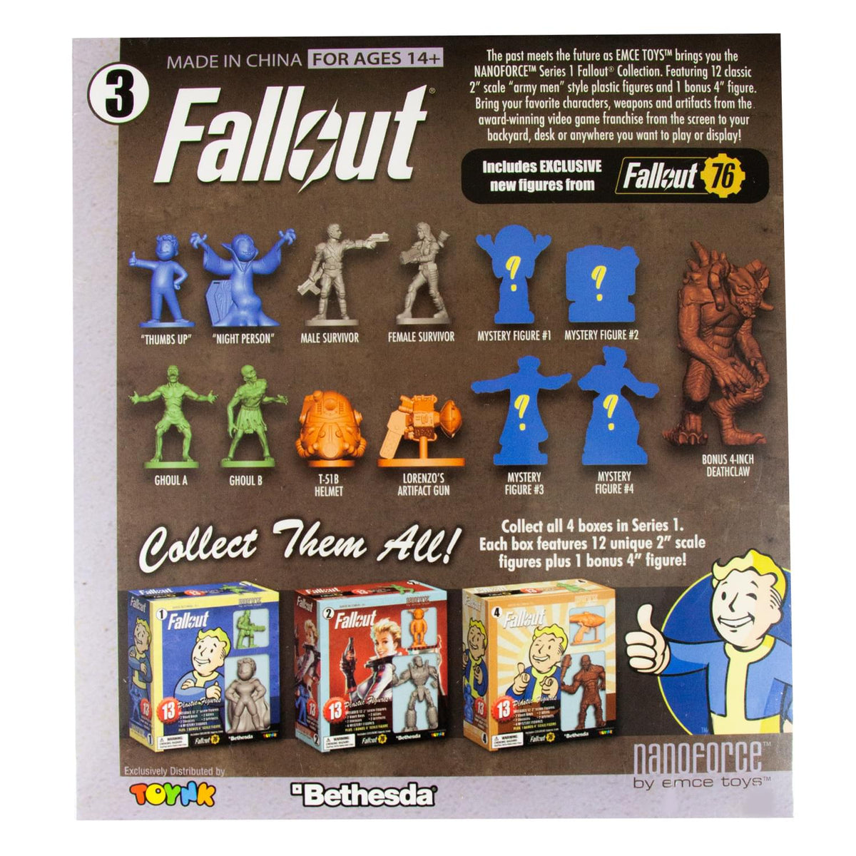 Fallout Nanoforce Series 1 Army Builder Figure Collection - Boxed Volume 3