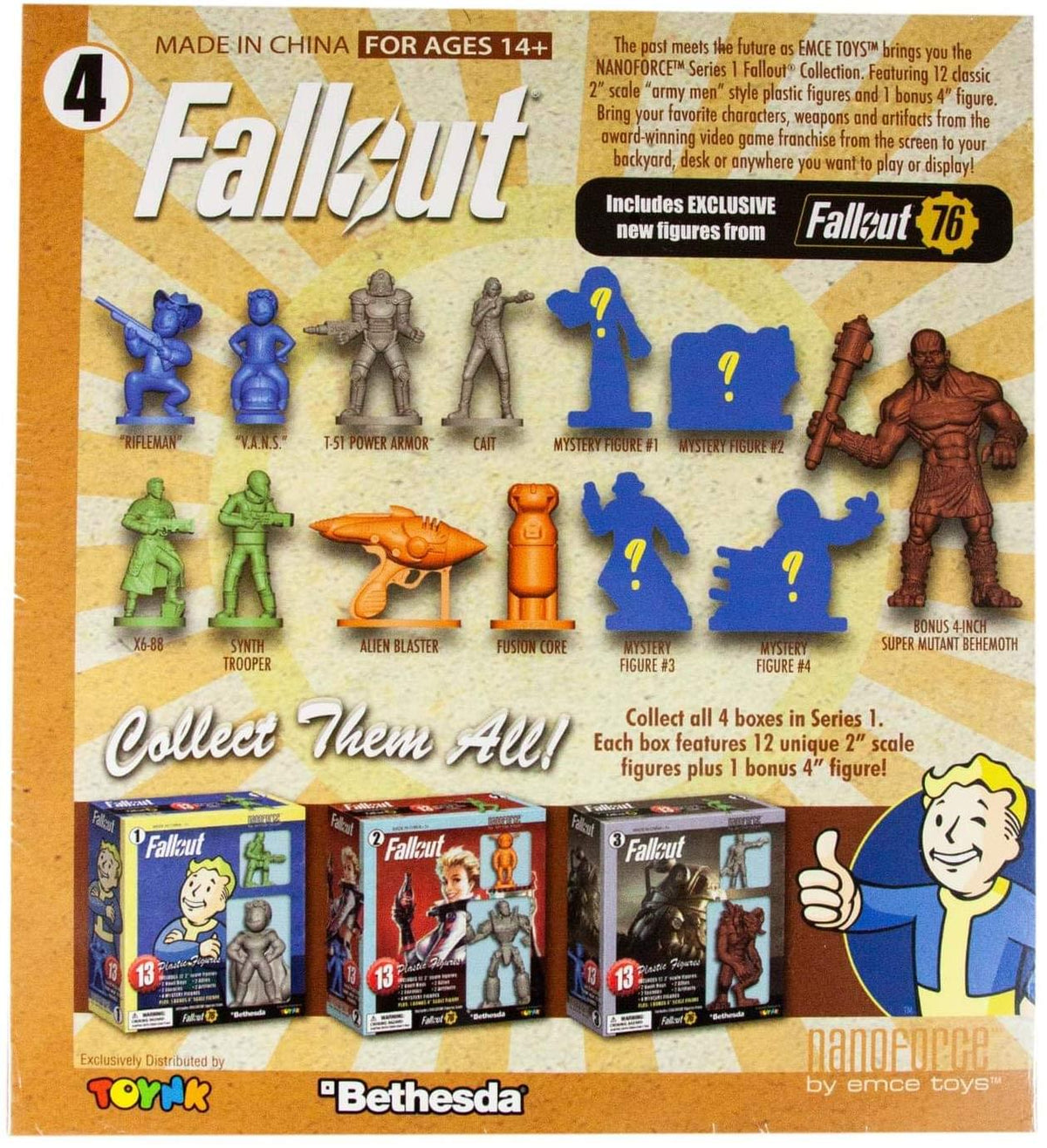 Fallout Nanoforce S1 Army Builder Figures - Boxed Version 4