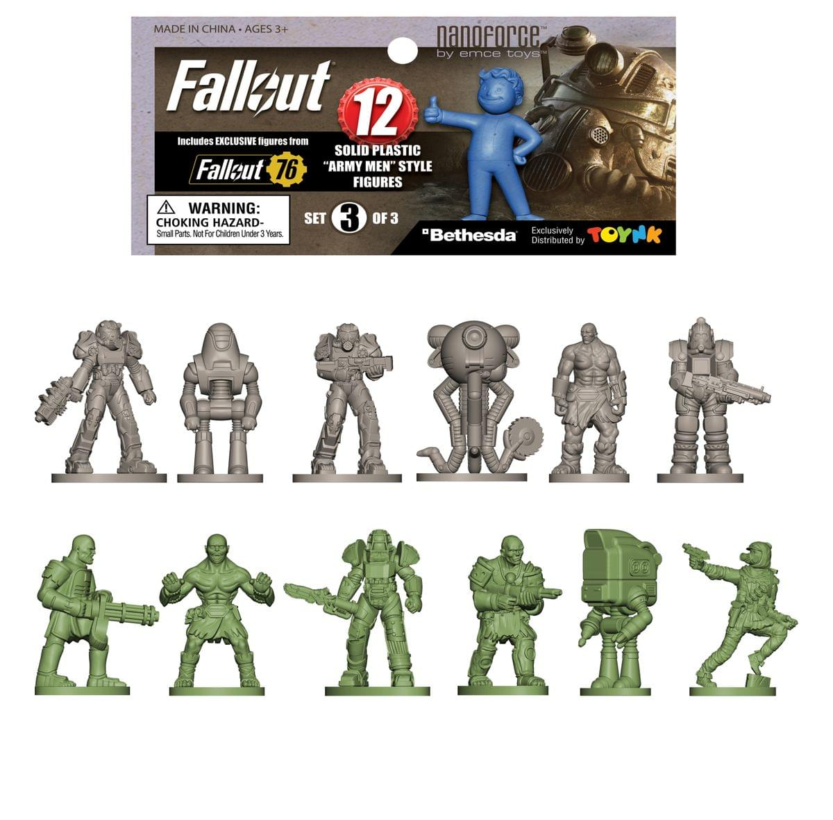 Fallout Nanoforce Series 1 Army Builder Figure Collection - Bagged