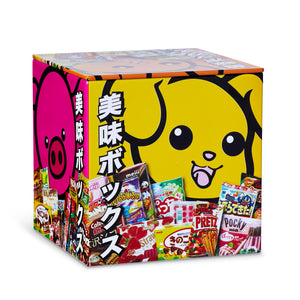 Dagashi Anime Otaku Japanese Snacks 4 x 4 Inch Tin Storage Box