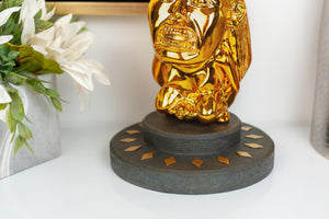 Indiana Jones Golden Fertility Idol Statue Display Base | Premium Movie Replica