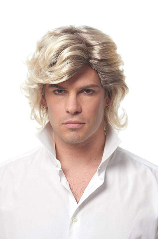 80's Icon Men's Costume Wig - Blonde