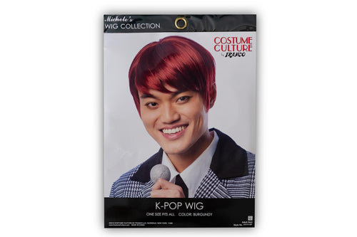 K-Pop Adult Costume Wig | Cosplay, Costume, & Leisure Wig | Red Hair Color