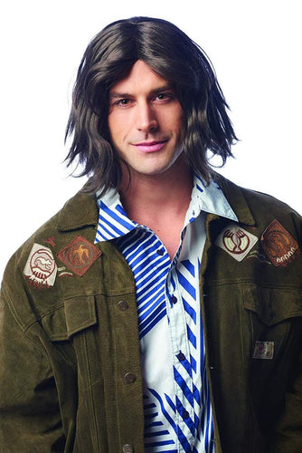 Shaggy Hippie Adult Costume Wig | Brown