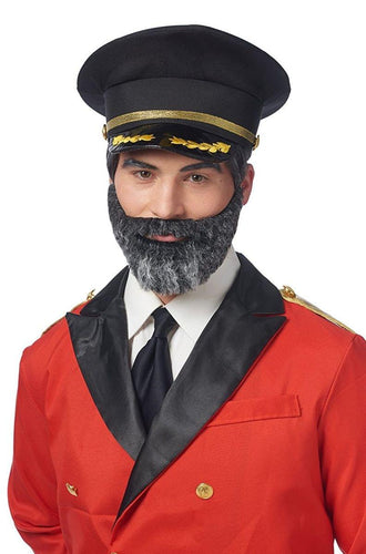 Captain Obvious Moustache and Beard Adult Costume Accessory Set