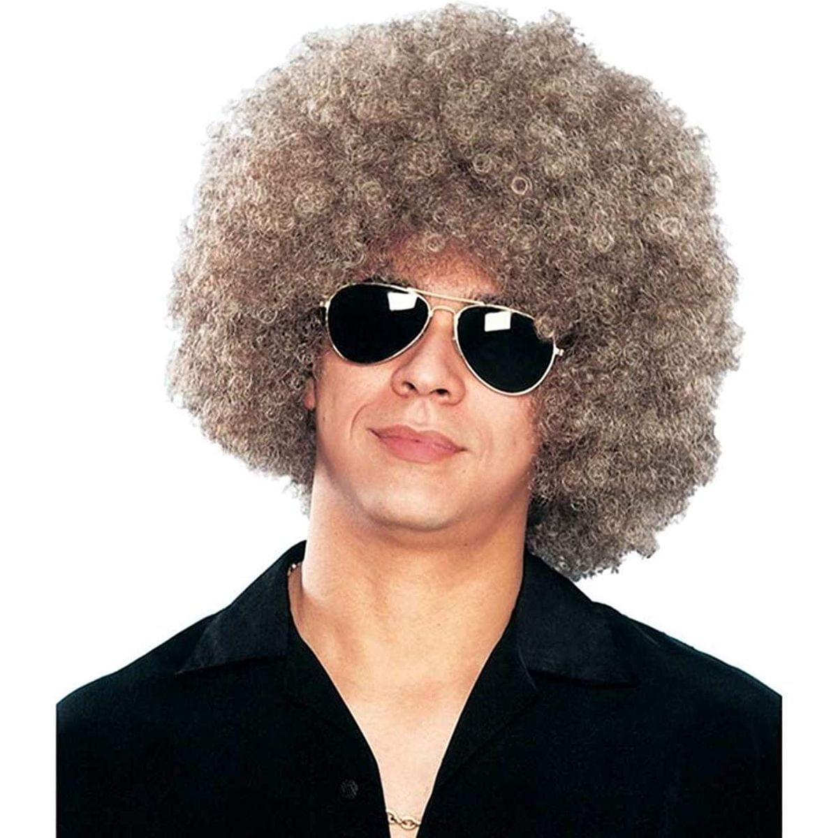 Disco Afro Men's Costume Wig - Mixed Blonde