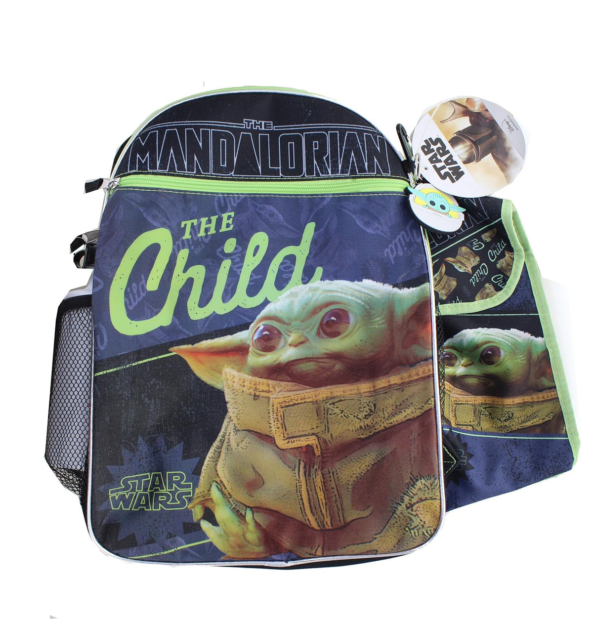 Star Wars The Mandalorian The Child 16 Inch Backpack 5-Piece Se