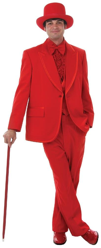 Men's Formal Red Costume Tuxedo Adult Large