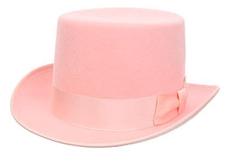 Wool Pink Costume Adult Top Hat