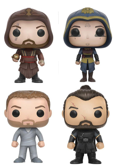 Assassin's Creed Movie POP Vinyl Figure Set: Callum Lynch, Aguilar, Ojeda, Maria