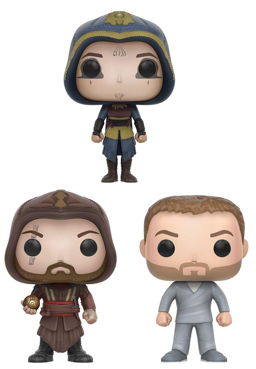 Assassin's Creed Movie Funko POP Vinyl Figure Bundle: Aguilar, Callum & Maria