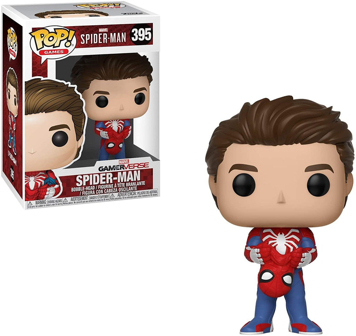 Marvel Spider-Man Funko POP Games Vinyl Figure | Unmasked Spider-Man
