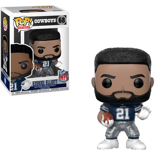 Dallas Cowboys NFL Funko POP Vinyl Figure - Ezekiel Elliott Away Uniform