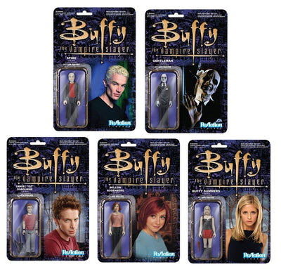 "Buffy the Vampire Slayer 3 3/4"" Figure Set: Buffy, Willow, Oz, Spike, Gentleman"