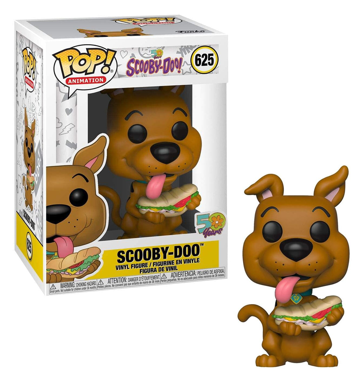 Scooby-Doo Funko POP Animation Vinyl Figure | Scooby w/ Sandwich