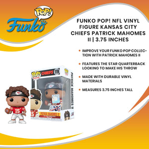 Funko POP! NFL Vinyl Figure Kansas City Chiefs Patrick Mahomes II | 3.75 Inches