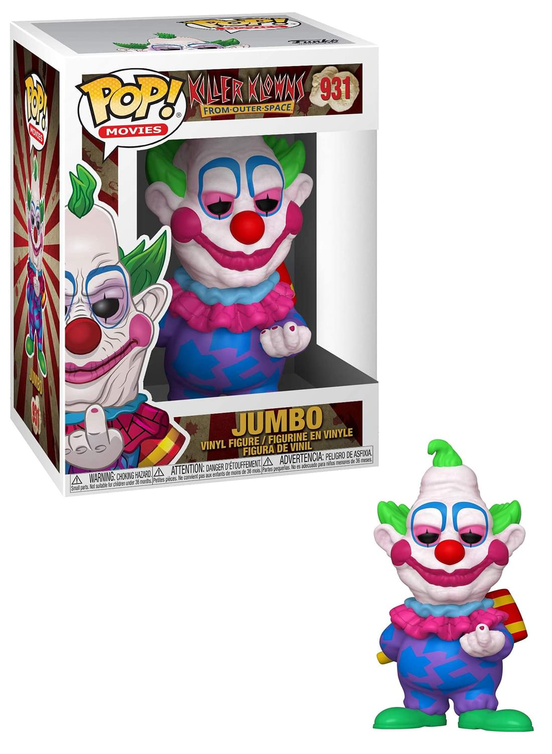 Spikey Brand New In Box POP Movies Funko Killer Klowns From Outer Space