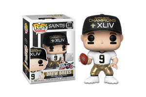 New Orleans Saints NFL Funko POP Vinyl Figure | Drew Brees SB Champions XLIV