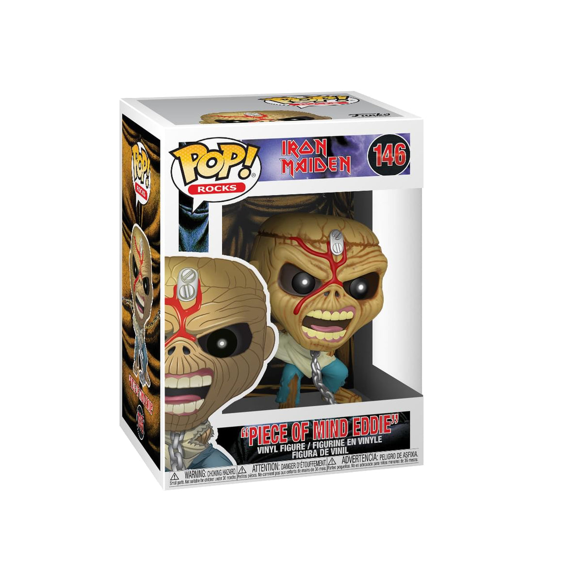 Iron Maiden Funko POP Rocks Vinyl Figure | Piece of Mind Eddie