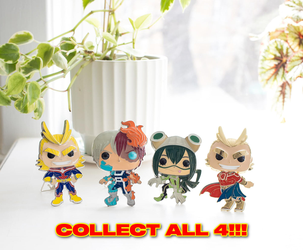 My Hero Academia 3-Inch Funko POP Pin | All Might Chase