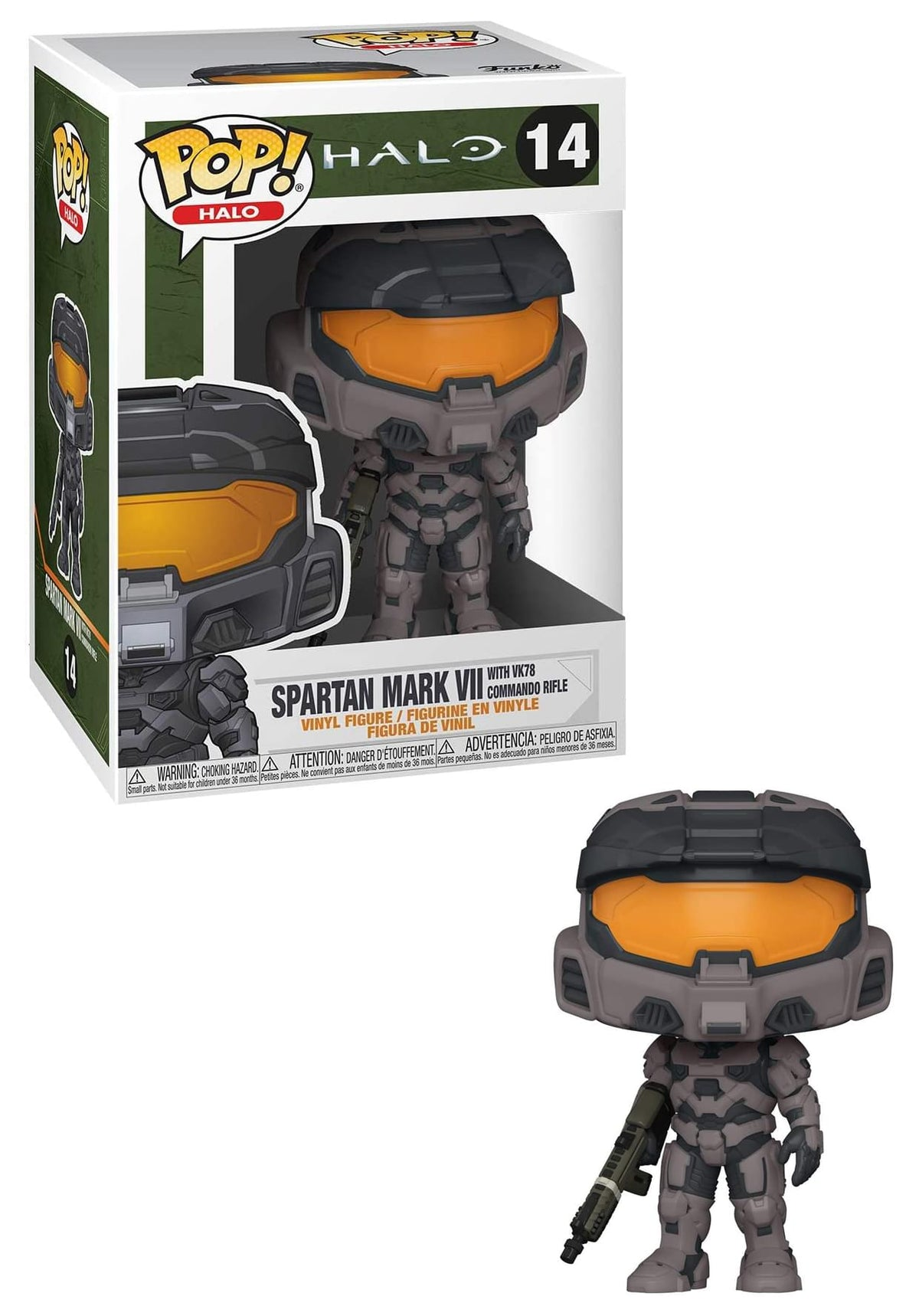 HALO Infinite Funko POP Vinyl Figure | Spartan Mark VII Black