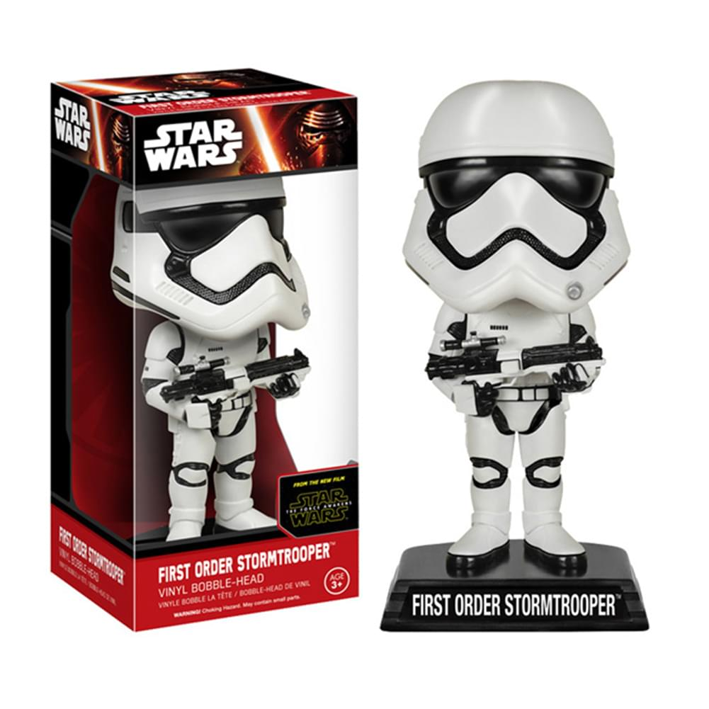 "Star Wars The Force Awakens 7"" Bobble Head First Order Stormtrooper"