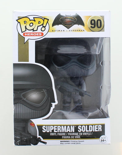 Batman v Superman Funko POP Vinyl Figure | Superman Soldier | Damaged Box
