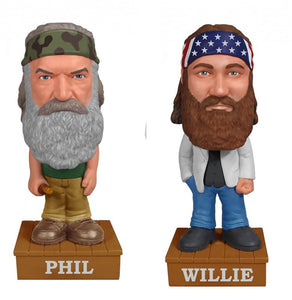 Duck Dynasty Talking Funko Wacky Wobbler Bundle: Phil & Willie