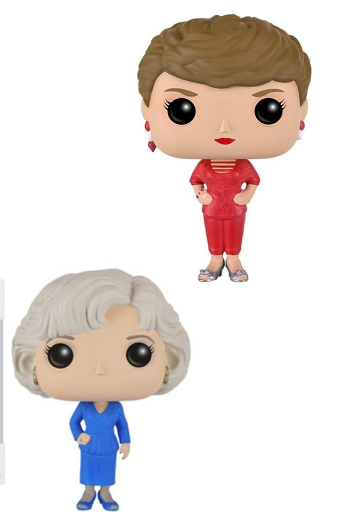 Golden Girls Funko POP Vinyl Figure Bundle: Blanche & Rose