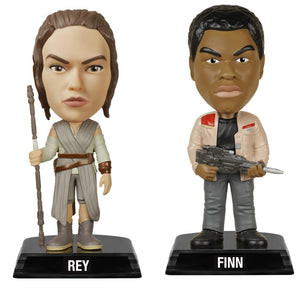Star Wars: The Last Jedi Funko Wacky Wobbler Bundle: Finn & Rey