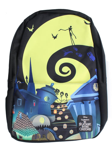 The Nightmare Before Christmas Exclusive Loungefly 17 Inch Nylon Backpack