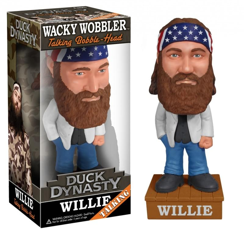 Funko Duck Dynasty Willie Talking Wacky Wobbler Bobble Head