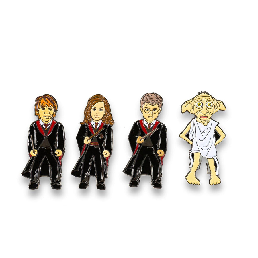 Harry Potter Exclusive Enamel Pin 4-Pack - Hermione/ Dobby/ Harry/ Ron