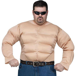 Muscle Man Shirt Plus Adult Costume