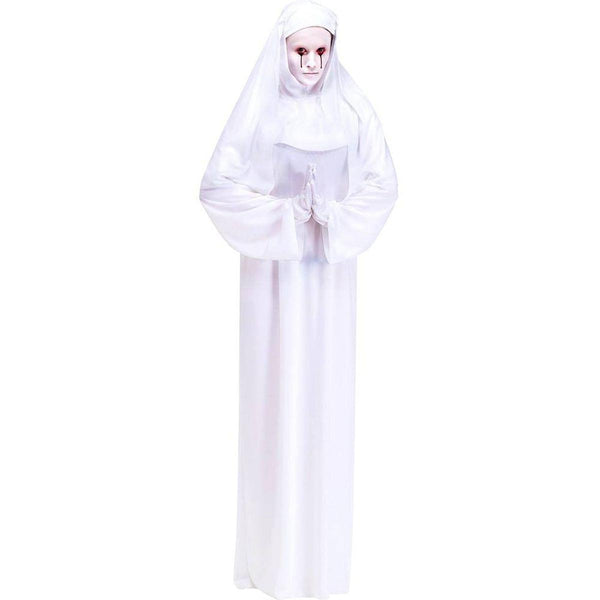 Mother Superior Scary Nun White Adult Costume