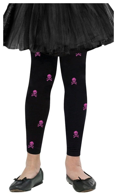 Bones Child Costume Tights Footless