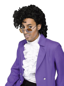 Purple Pain Rock Star Costume Wig Adult Men