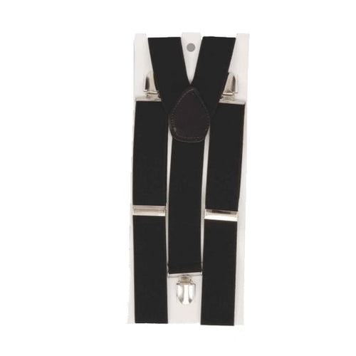 Black Costume Suspenders - One Size