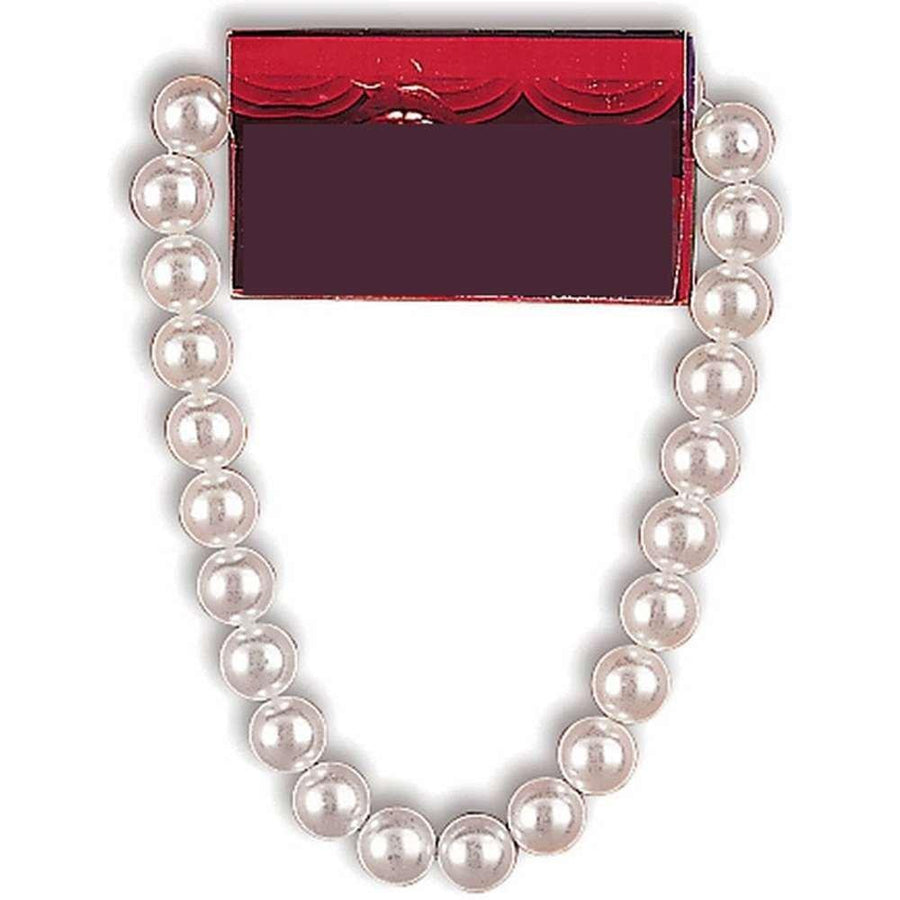 Jumbo White Pearls Costume Necklace
