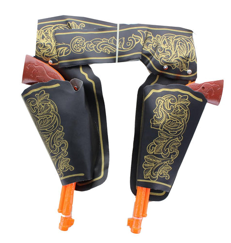 Deluxe Double Gun & Holster Costume Accessory Set Adult