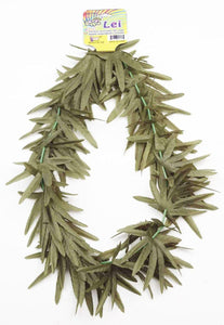 Cannabis Green Leaf Hawaiian Costume Lei