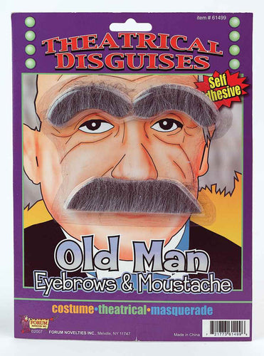 Old Man Costume Eyebrows & Moustache