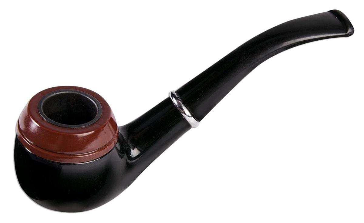 Vintage Black Wood Costume Tobacco Pipe