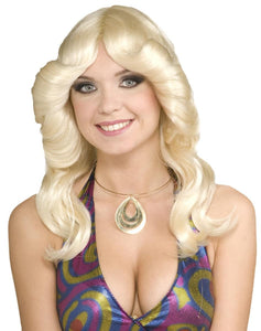 70's Disco Doll Blonde Adult Costume Wig