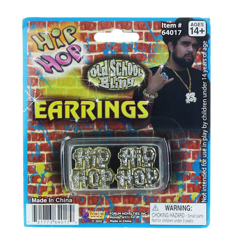 Hip Hop Costume Earrings
