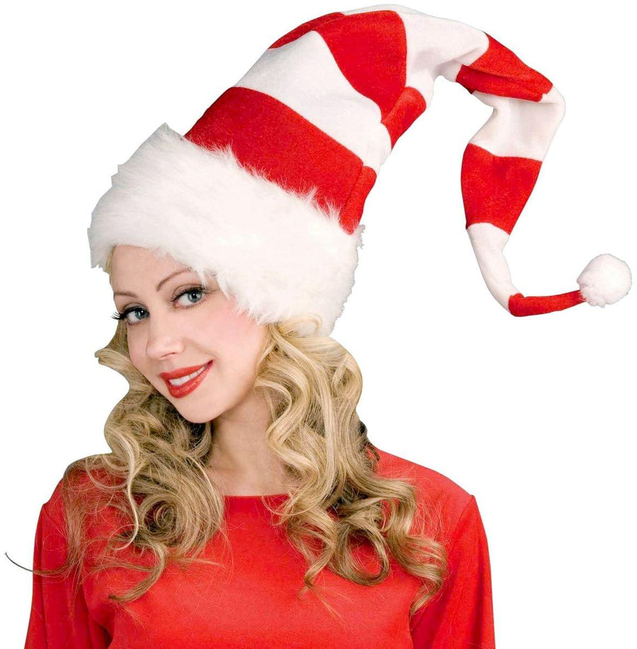 "34"" Candy Cane Hat Adult Costume Accessory"